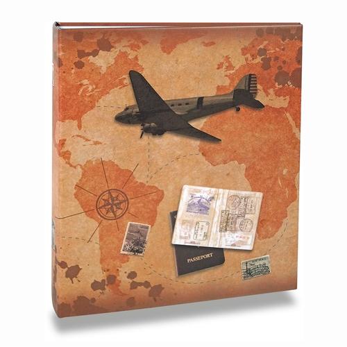Álbum de Fotos Viagem - 200 Fotos 10x15 cm - Passaporte - 24,8x21,6 cm