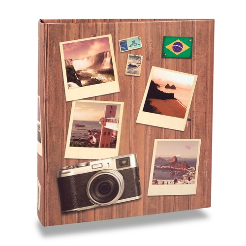 Álbum de Fotos Viagem - 400 Fotos 10x15 cm - Pictures - 24,8x24,7 cm