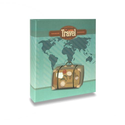 Álbum de Fotos Viagem - 400 Fotos 10x15 cm - Travel - 24,8x24,7 cm