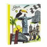 Álbum de Fotos Viagem Brasil 150 Fotos 15x21 cm - Colorido