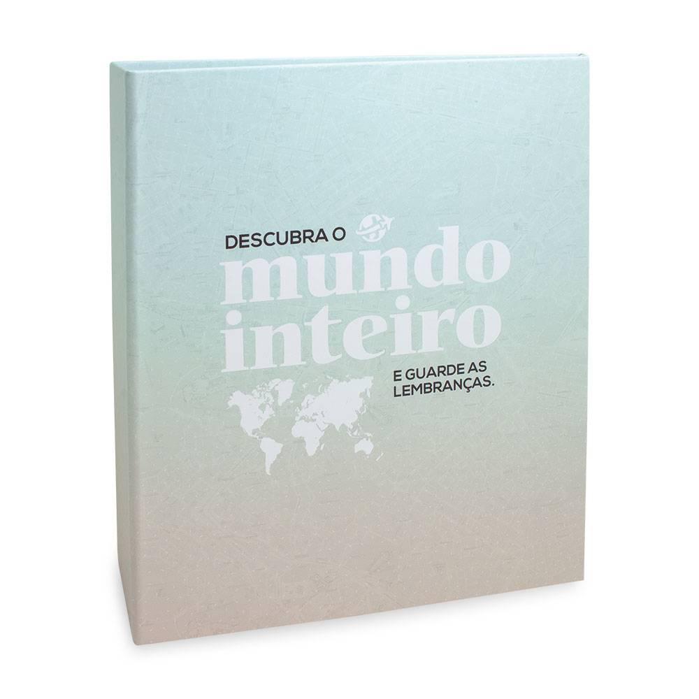 Álbum de Fotos Viagem Descubra o Mundo - 200 Fotos 10x15 cm - 24,8x21,6 cm