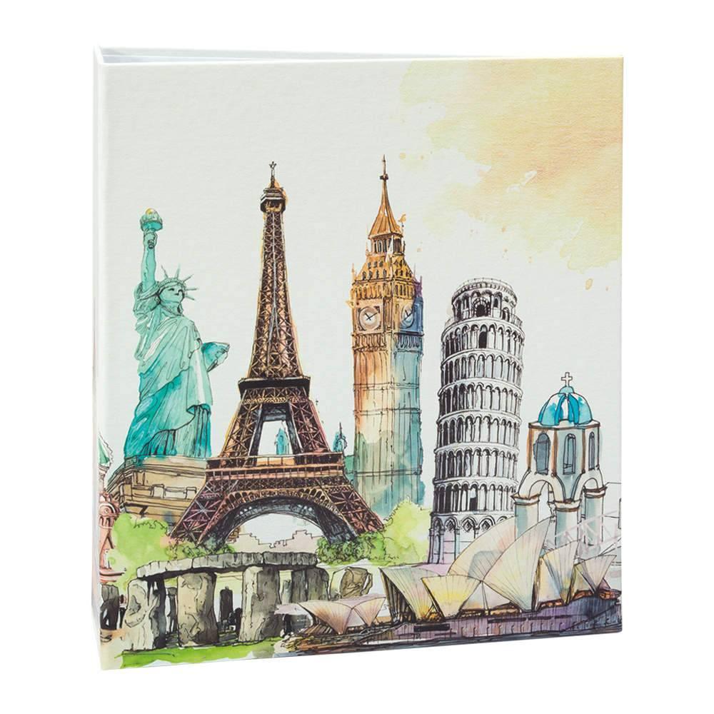 Álbum de Fotos Viagem Monumentos - 100 Fotos 15x21 cm - Colorido - 23,3x22 cm