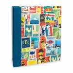 Álbum de Fotos Viagem Selos - 100 Fotos 15x21 cm - 23,3x22 cm