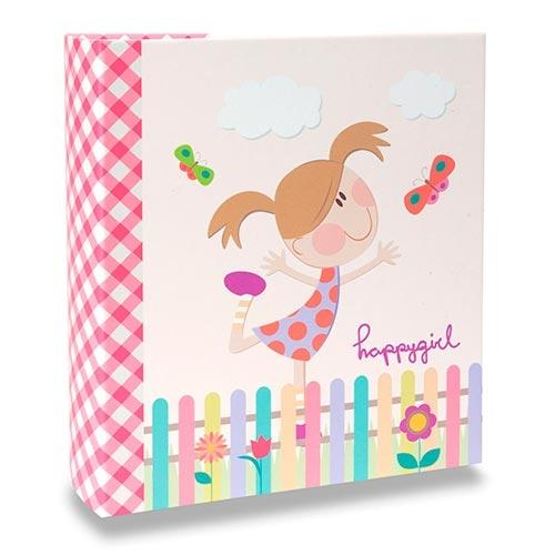Álbum Infantil - 300 Fotos 10x15 cm - Happy Girl - 24,8x22,6 cm