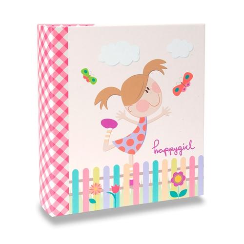 Álbum Infantil - 80 Fotos 13x18 cm - Happy Girl - 19,2x15 cm