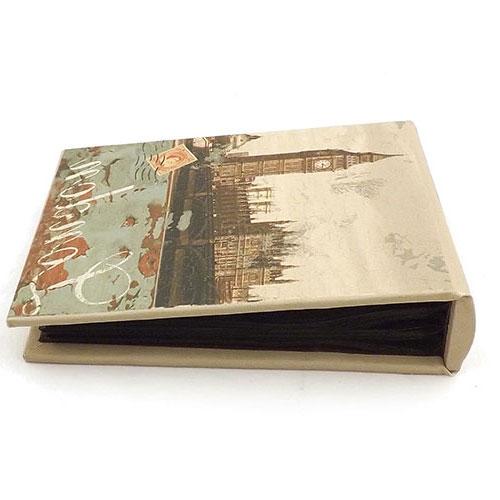Álbum de Fotos London Big Ben Oldway - 80 Fotos 10x15 cm - com Capa em Tecido - 19x12 cm