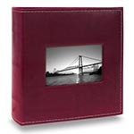 Álbum Prestige com Janela - 200 Fotos 10x15 cm - Bordô