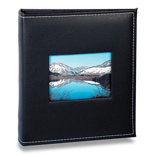 Álbum Prestige com Janela - 200 Fotos 10x15 cm - Preto - 25,2x22 cm