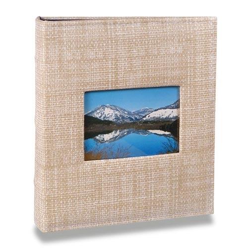 Álbum Prestige com Janela - 400 Fotos 10x15 cm - Bege - 25,2x24,8 cm