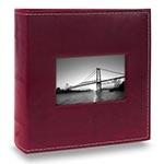 Álbum Prestige com Janela - 400 Fotos 10x15 cm - Bordô