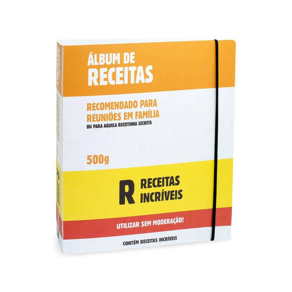 Álbum de Receitas Incríveis - 50 Folhas - Multicolorido - 23.4x21 cm