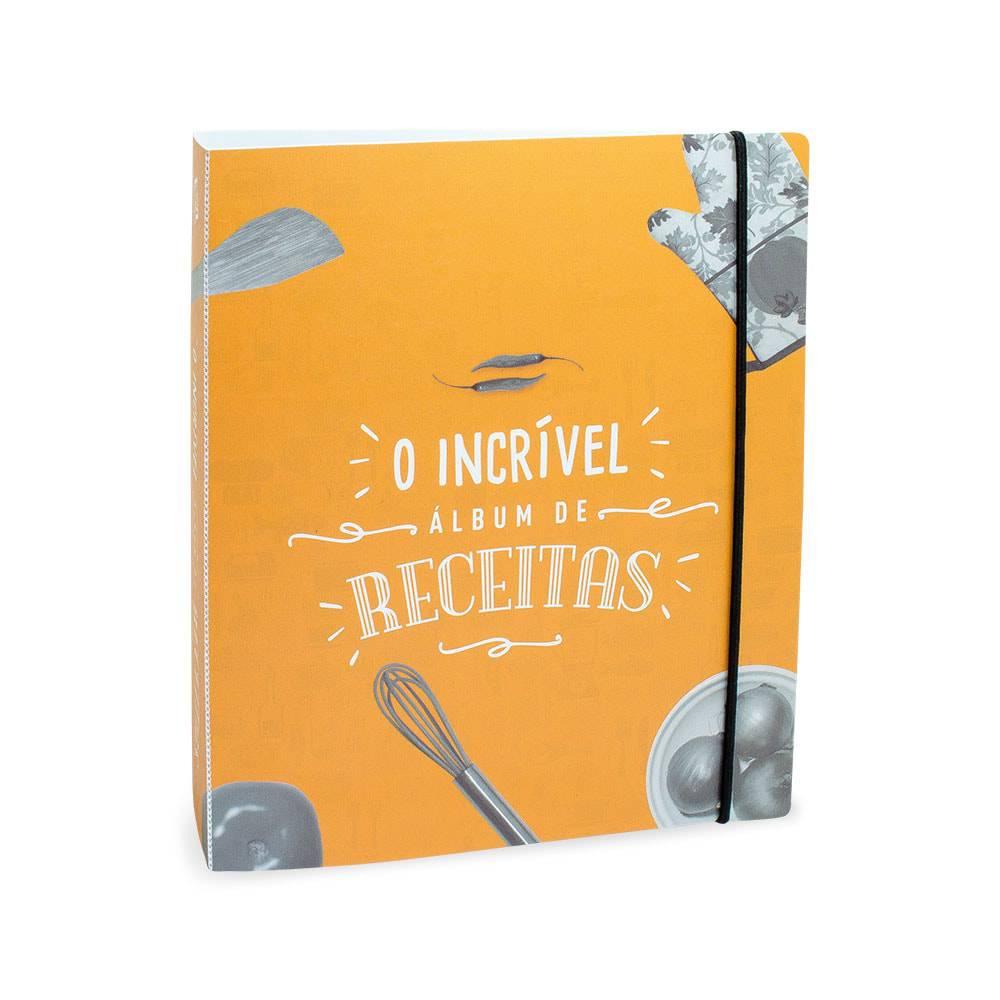 Álbum de Receitas O Incrível - 50 Folhas - Laranja - 23.4x21 cm
