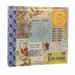 Álbum Retrô Colagem Colorida - 100 Fotos 15x21 cm - em Cetim