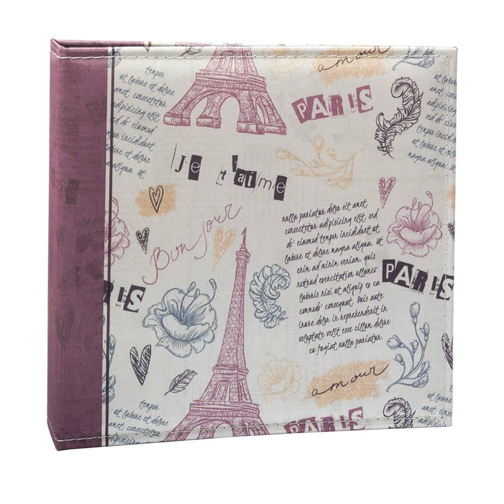 Álbum Retrô Paris - 150 Fotos - Capa em Cetim - 25,5x24 cm