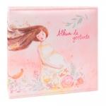 Álbum Tríade Gestante Rosa - 120 Fotos - com Capa em Cetim - 25,5x24 cm