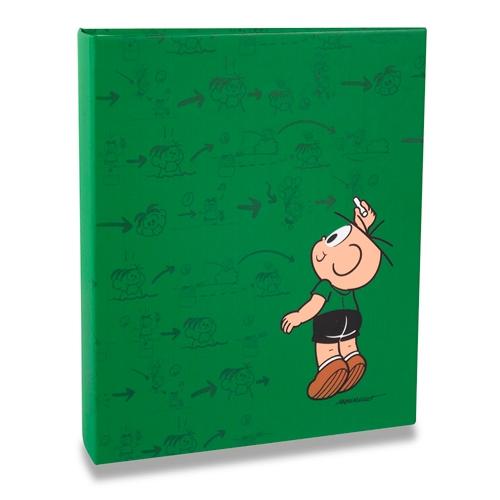 Álbum Verde Turma da Mônica - 200 Fotos 10x15 cm - Cebolinha - 24,8x21,6 cm