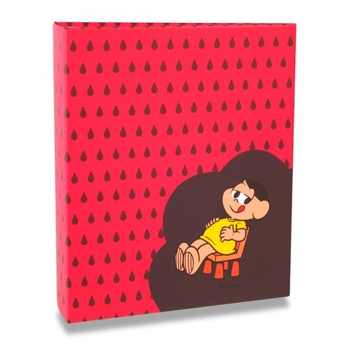 Álbum Vermelho Turma da Mônica - 80 Fotos 13x18 cm - Magali - 19,2x15,2 cm
