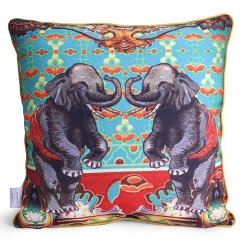 Almofada Abracadabra Elefante em Poliester - 40x40 cm