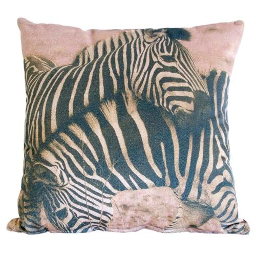 Almofada África Zebra em Tecido - 60x60 cm