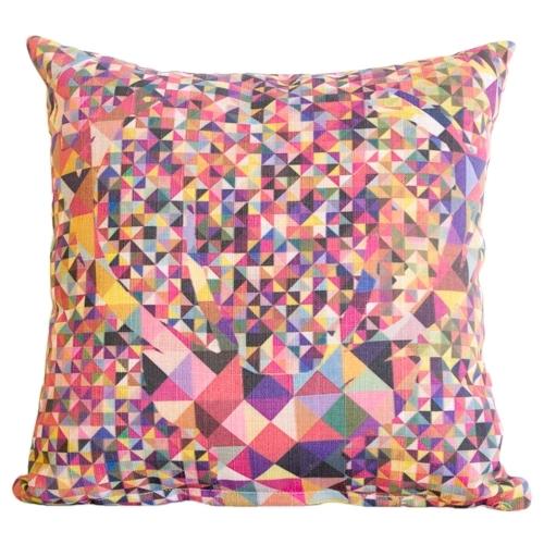 Almofada Alce Colorido em Tecido - 45x45 cm