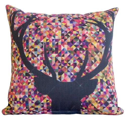 Almofada Alce Colors em Tecido - 45x45 cm