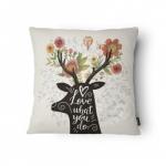 Almofada Alce Love em Tecido - 43x43 cm