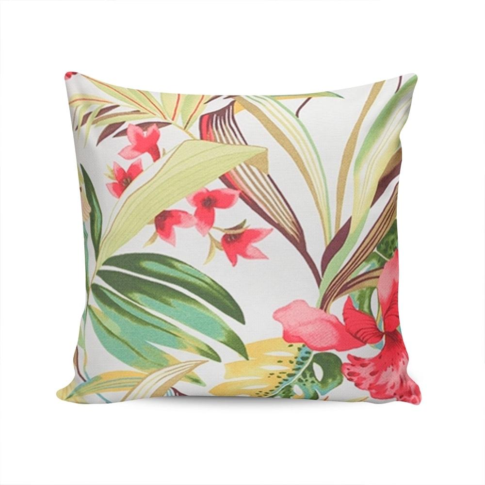 Almofada Acquablock Floral - Colorida - Capa em Algodão - 45x45 cm