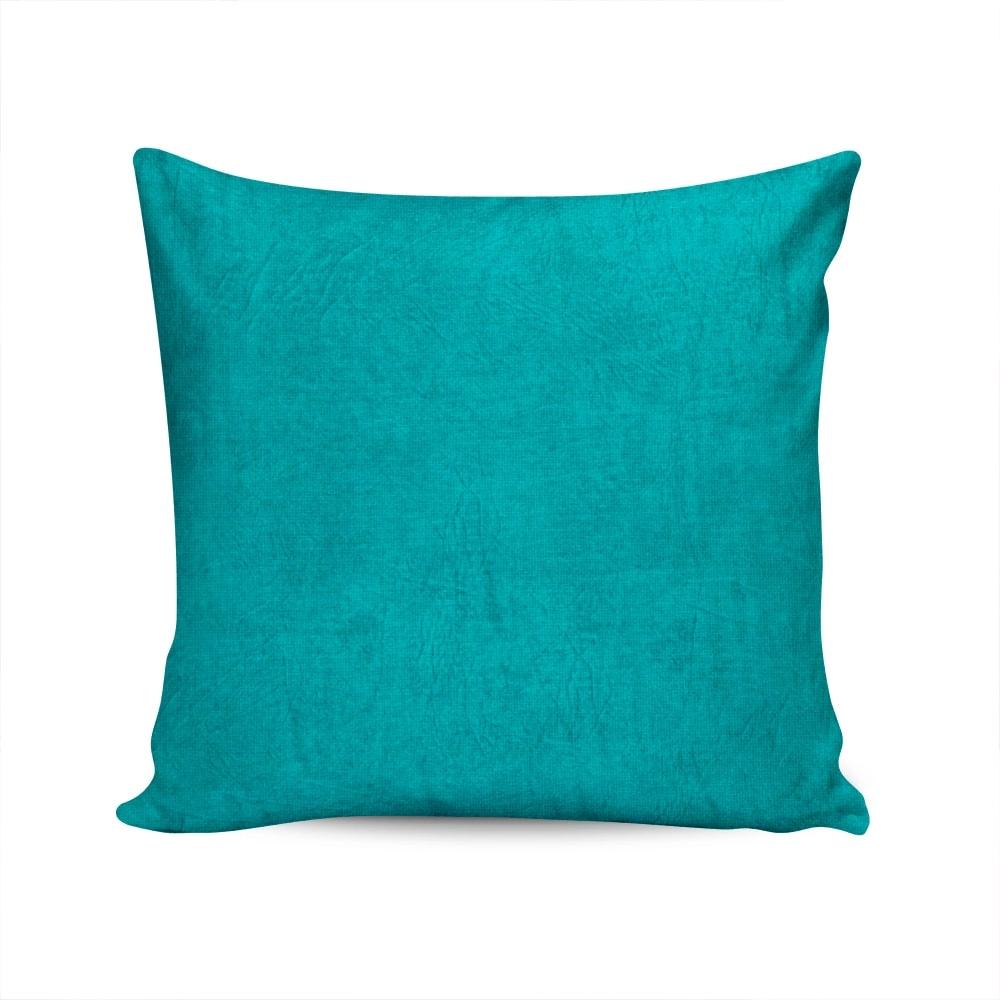 Almofada Acquablock Lisa Azul Capa em Algodão - 45x45 cm