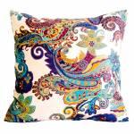 Almofada Arabescos Colorida em Tecido - 45x45 cm
