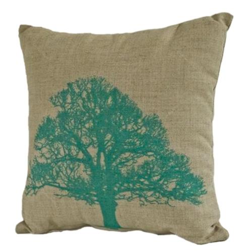 Almofada Árvore Verde em Tecido - 45x45 cm