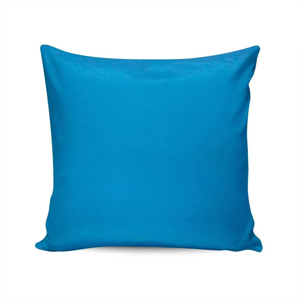Almofada Belize Azul Capa em Algodão - 45x45 cm