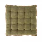 Almofada Capitonê Verde/Roxo em Algodão - 40x40 cm