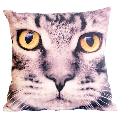 Almofada Cat Eyes em Tecido - 45x45 cm