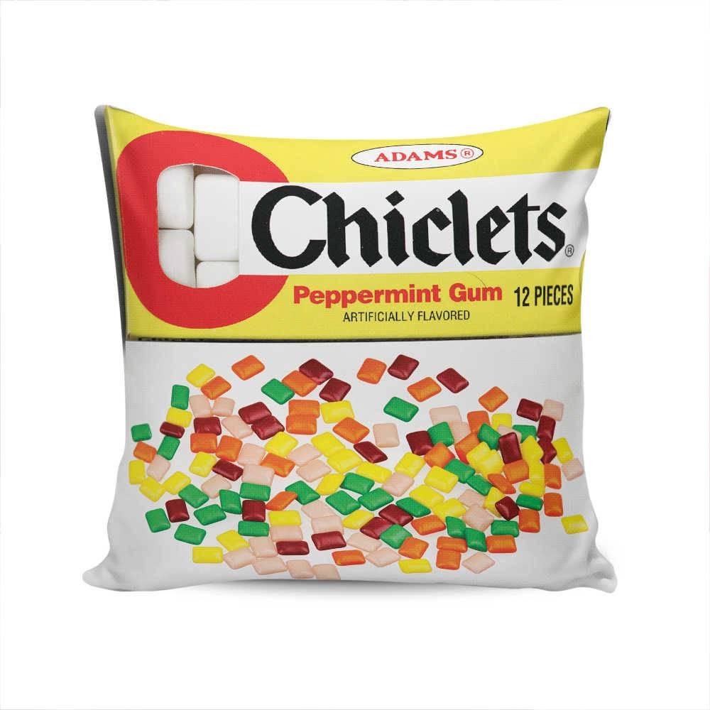 Almofada Chiclets Adams Multicolorido em Tecido Seletel - 37x37 cm