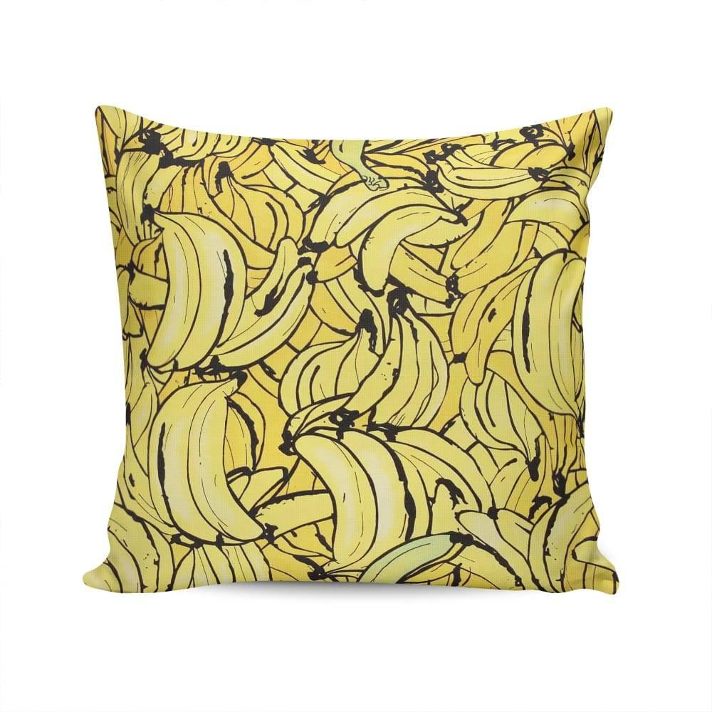 Almofada Colore Bananas Amarelas em Algodão - 45x45 cm