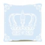 Almofada coroa azul pastel