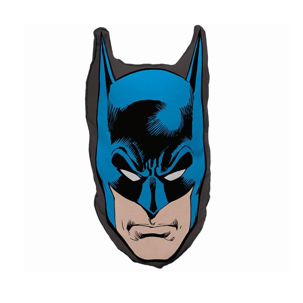 Almofada DC Comics Batman Face Azul e Preto  em Poliester - Urban - 45x23 cm