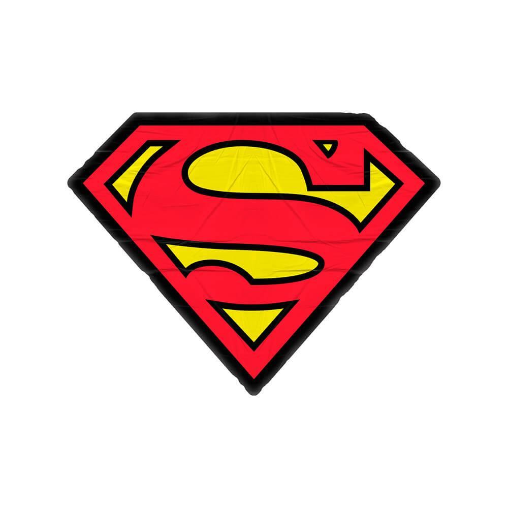 Almofada DC Comics Superman Logo Vermelha e Amarela em Poliéster - Urban - 45x33 cm