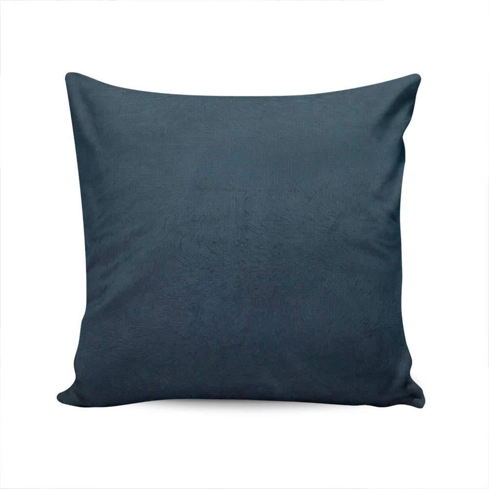 Almofada Duna Capa Azul Marinho em Veludo - 45x45 cm