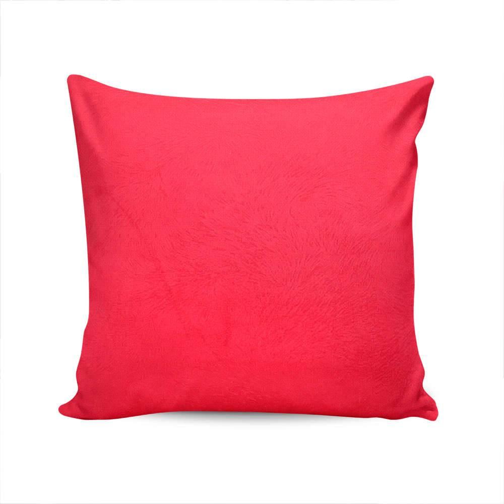 Almofada Duna Capa Vermelha em Veludo - 45x45 cm
