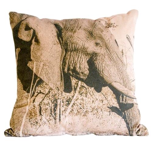Almofada Elefante África em Tecido - 60x60 cm