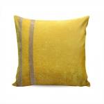 Almofada Elegance Amarelo com Strass e Capa em Veludo