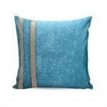 Almofada Elegance Azul Celeste c/ Strass e Capa em Veludo