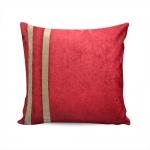 Almofada Elegance Vermelha com Strass e Capa em Veludo