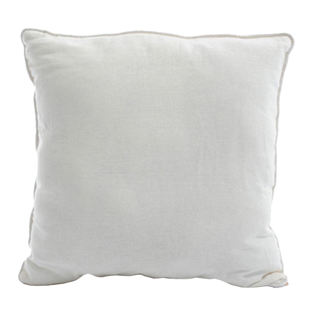 Almofada Fine Linen Branco em Tecido - 45x45 cm