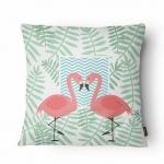 Almofada Flamingos em Tecido - 43x43 cm