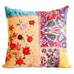 Almofada Floral Diferenciado Colorida em Tecido - 45x45 cm
