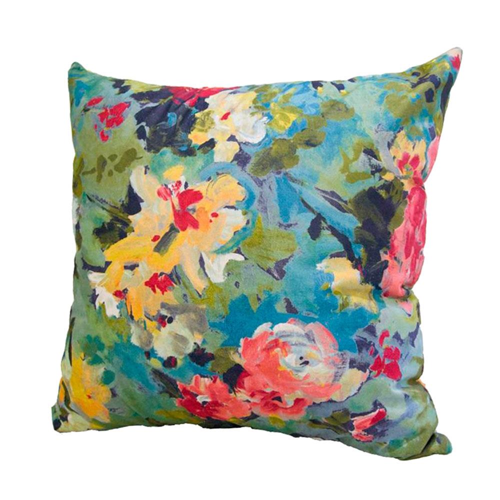 Almofada Floral em Tecido - 45x45 cm