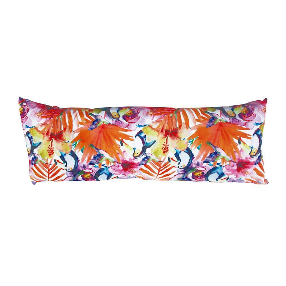 Almofada Flores com Tucanos Fullway - 80x30 cm