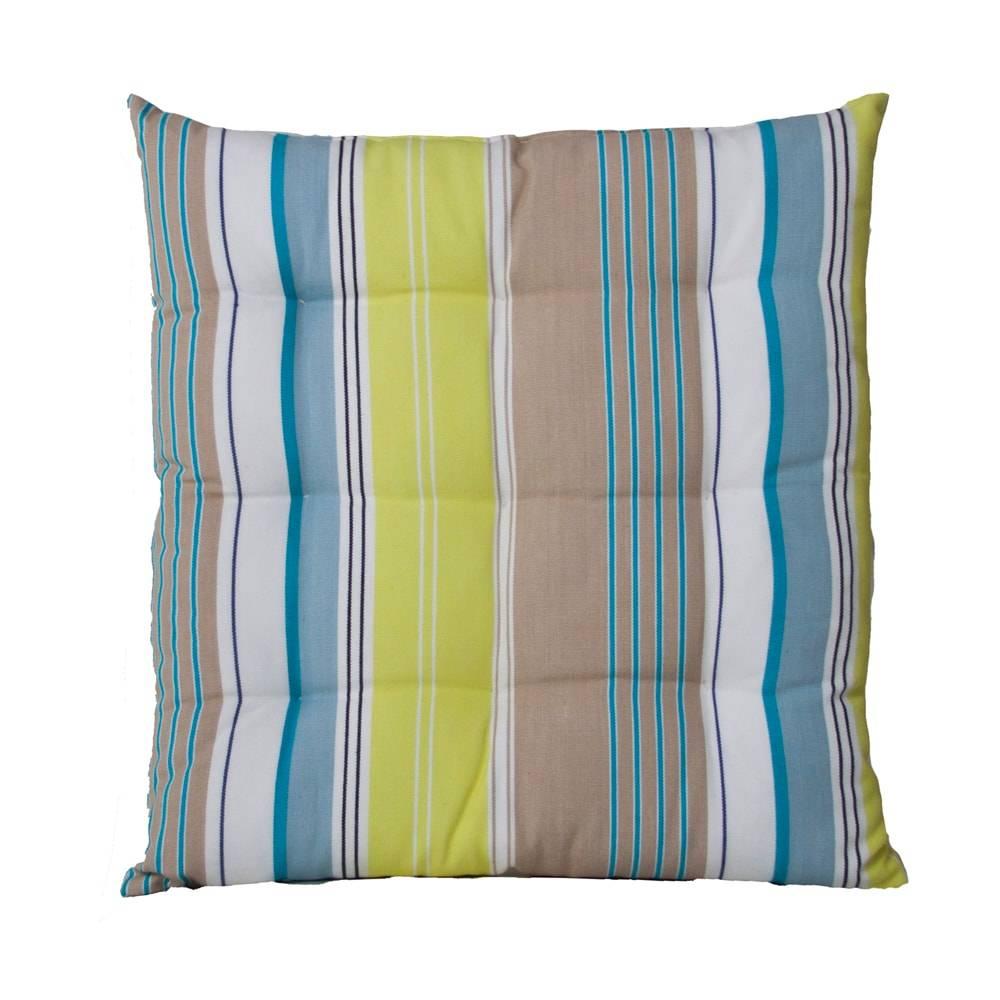 Almofada Karmin Listras Coloridas  em Algodão - 40x40 cm